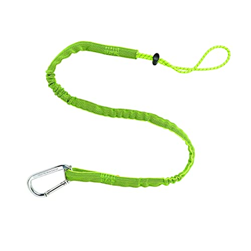 Squids 3100 Tool Lanyard with Single Carabiner, Standard Length, Lime