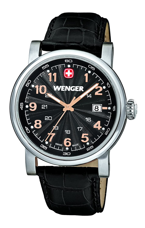 Wenger Herren-Armbanduhr XL Urban Classic Analog Quarz Leder 01.1041.105