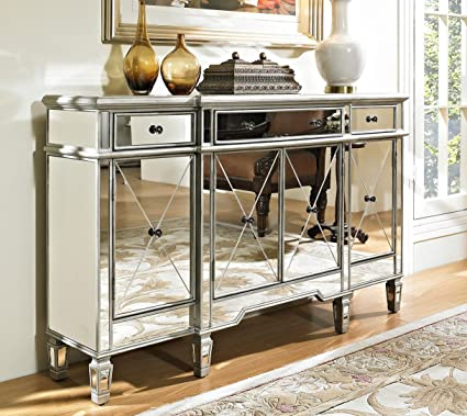 60 Mirrored Reflection Andrea Hall Console Cabinet Model DH 695