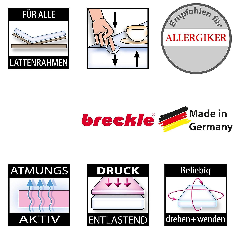 Breckle Poly Öko Micro Qualitäts Schaum-Matratze Schaum-Matratze Schaum-Matratze mit Klimafaserbezug, Gesamthöhe ca. 14 cm - Grösse 140x200 b5d200