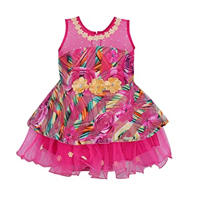 f9eee0556 Wish Karo Baby Girls Party Wear Frock Dress DN (fe2156pnknw, 12-18 Months