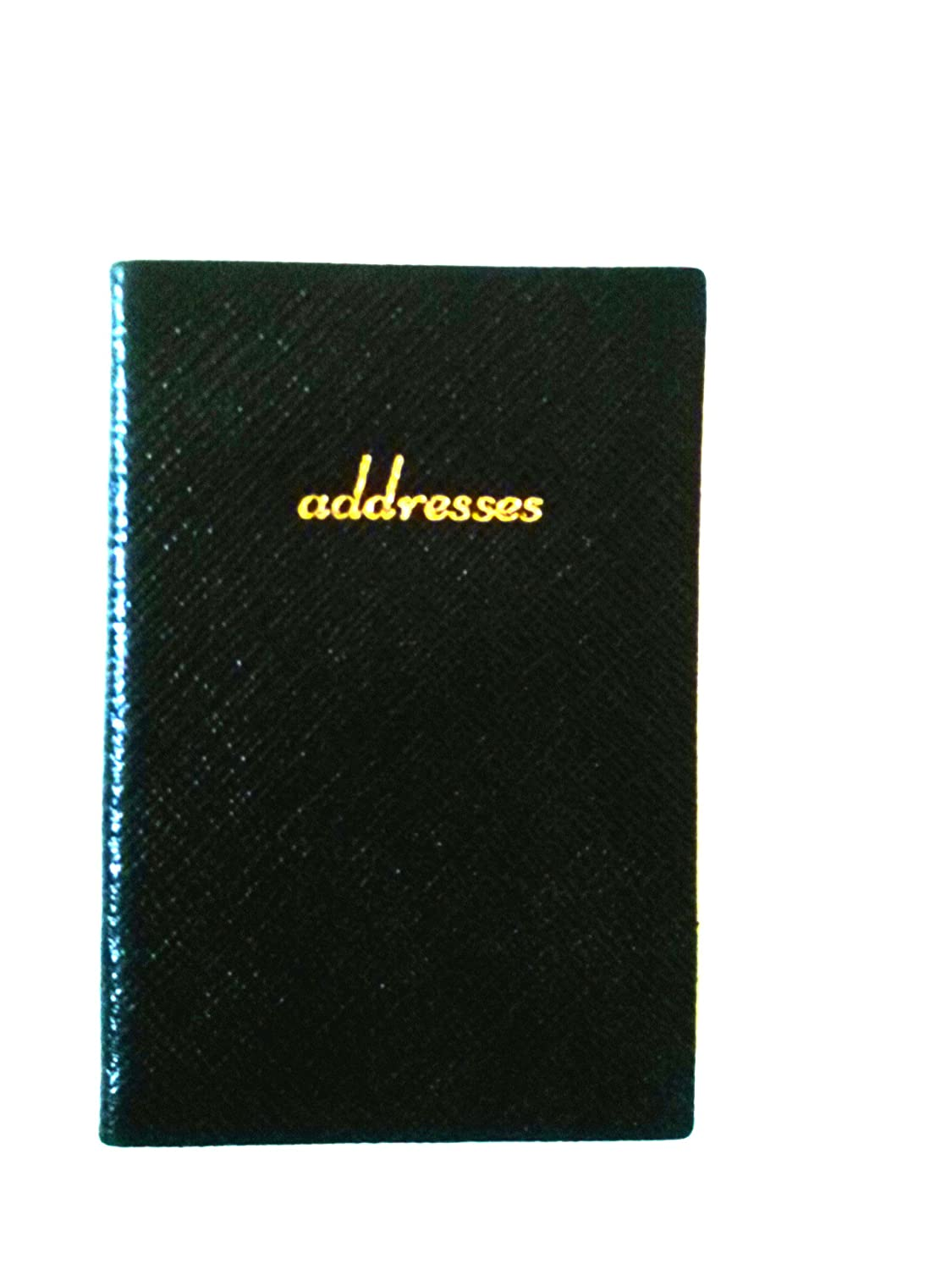 Charing Cross A42L 4 x 2 Address Book Real Leather Black