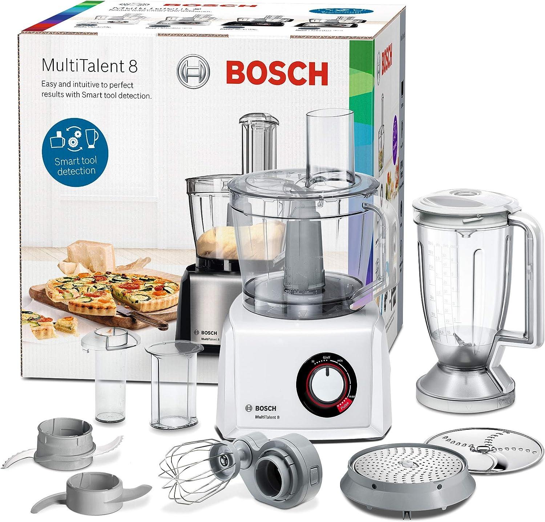 Bosch MC812W501 MultiTalent - Robot de cocina compacto, 1000 W, bol XXL de 3,9 l, color blanco: Amazon.es: Hogar