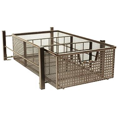 DecoBros Mesh Cabinet Basket Organizer, Bronze (Medium - 9.4 x 15.3 x 5)