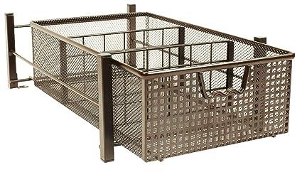 DecoBros Mesh Cabinet Basket Organizer, Bronze (Medium   9.4 X 15.3 X 5)