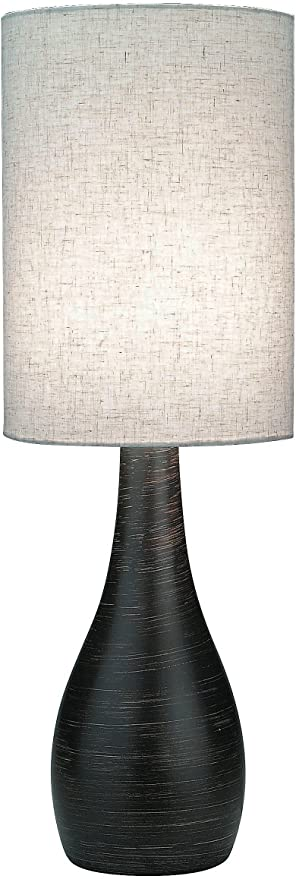 Lite Source Ls 2996 Quatro 17 1 2 Inch Mini Table Lamp With Linen Shade Brushed Dark Bronze Amazon Com
