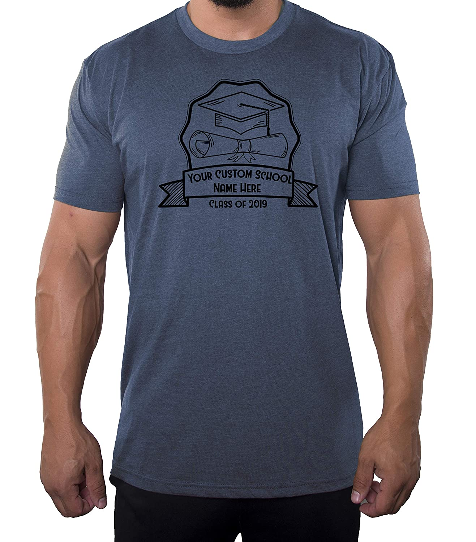 Cap /& Diploma Graduation T-Shirts Mato /& Hash Senior Mens T-Shirts Class of 2019 Customized Shirts