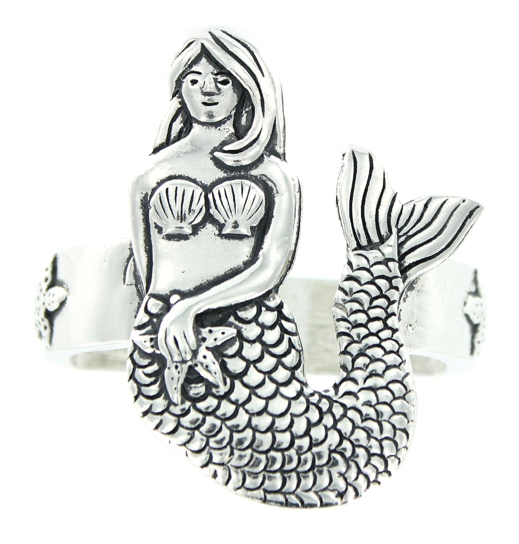 Basic Spirit Pewter Mermaid Napkin Rings Set of 4 Made in Nova Scotia