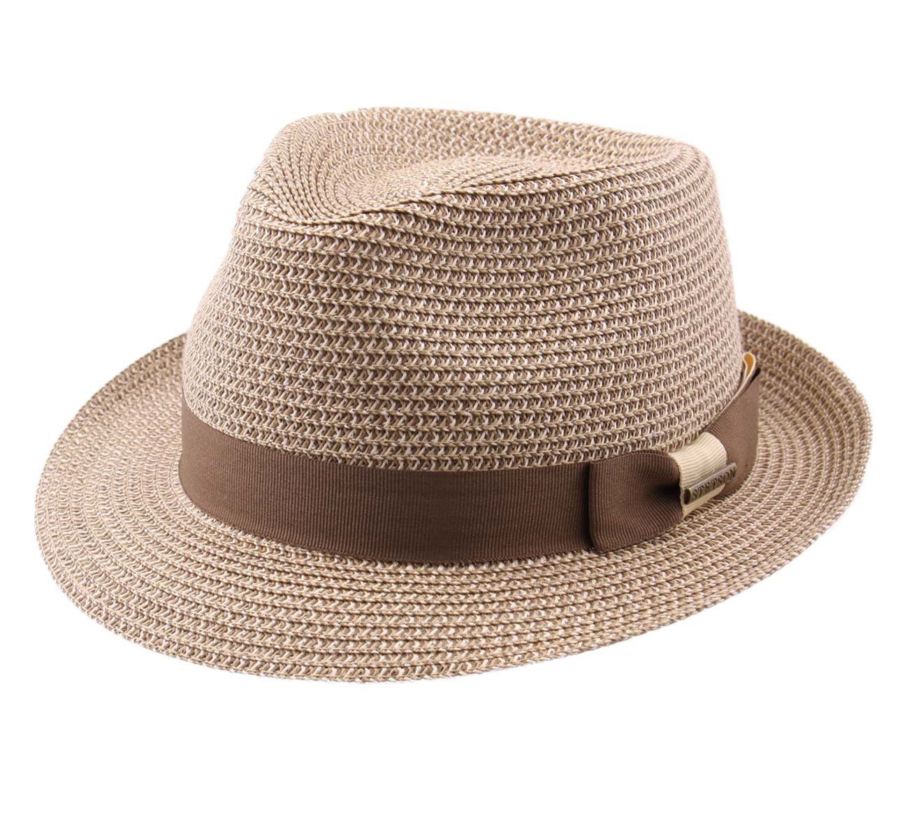 Stetson Women's Trilby Toyo Trilby Hat Packable Size M Brown-67