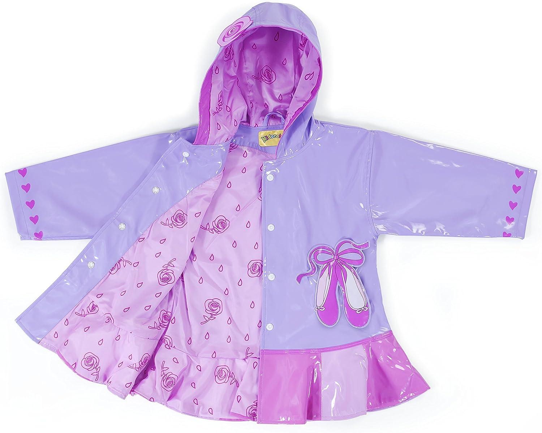 Kidorable Lotus Flower Raincoat Children Kids Girls Waterproof Rain Mac Coat