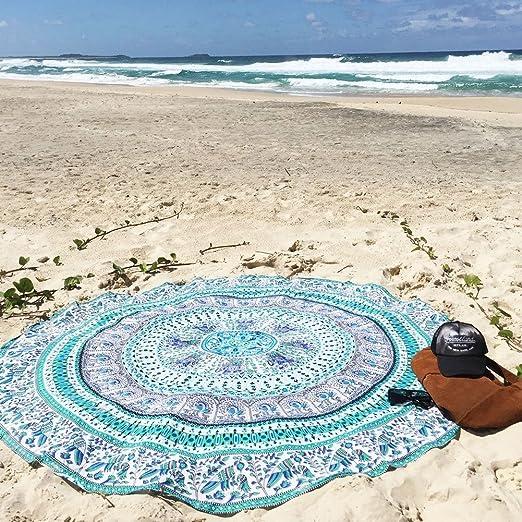 5 opinioni per Pepeng – telo da spiaggia oversize con stampa a chiffon, 149,9 cm extra large,