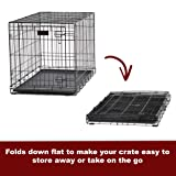 Large Dog Crate 1542DDU| MidWest ICrate Double Door Folding Metal Dog Crate|Large Dog, Black