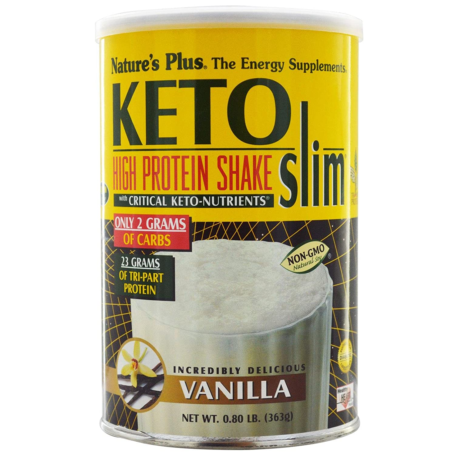 Nature'S Plus Ketoslim Vanilla Shake With Critical Keto Nutrients