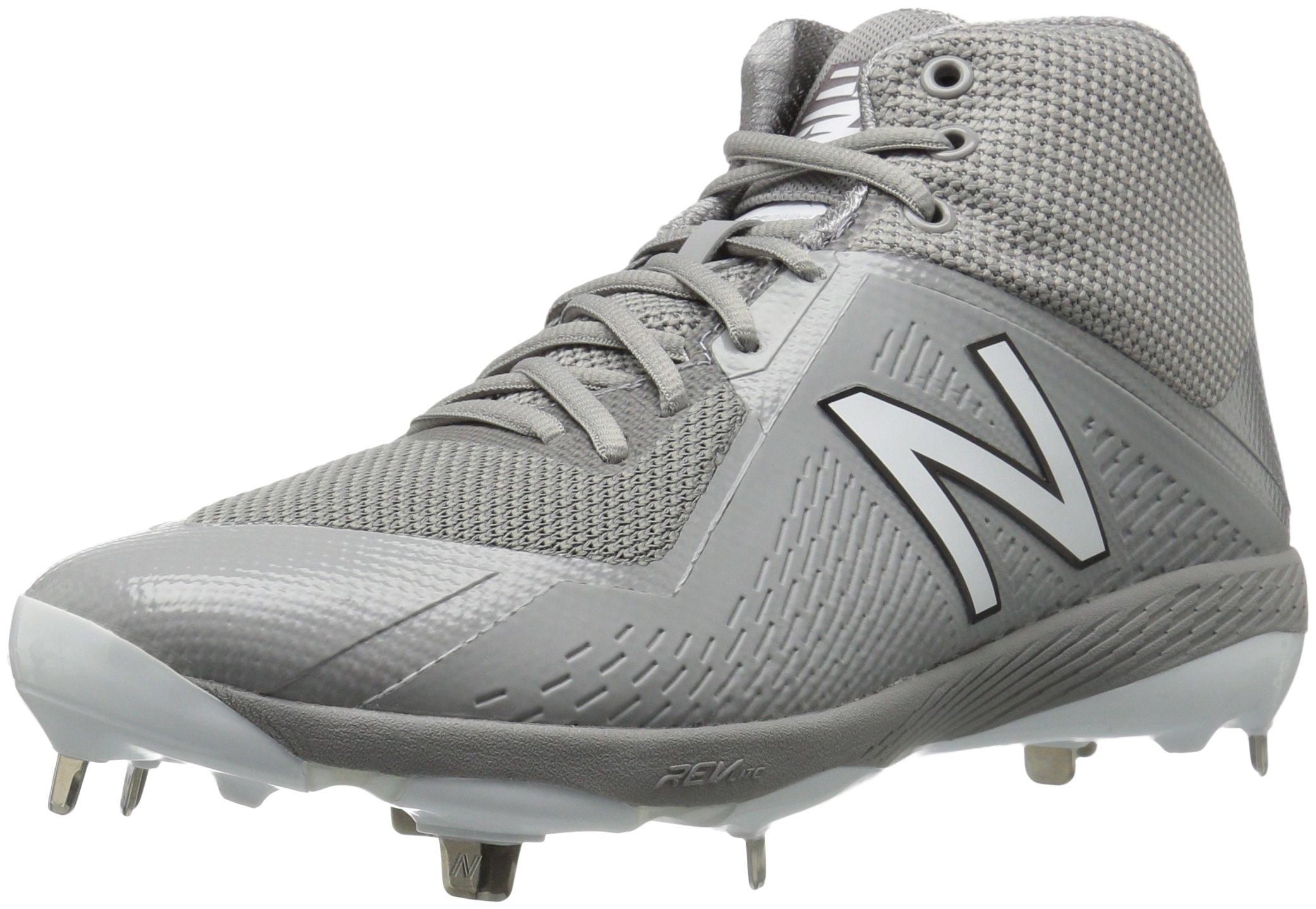 New Balance Men's M4040v4 Metal Baseball Shoe, Grey, 10 D US by New Balance
