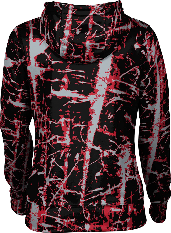 Distressed St Cloud State University Girls Zipper Hoodie School Spirit Sweatshirt