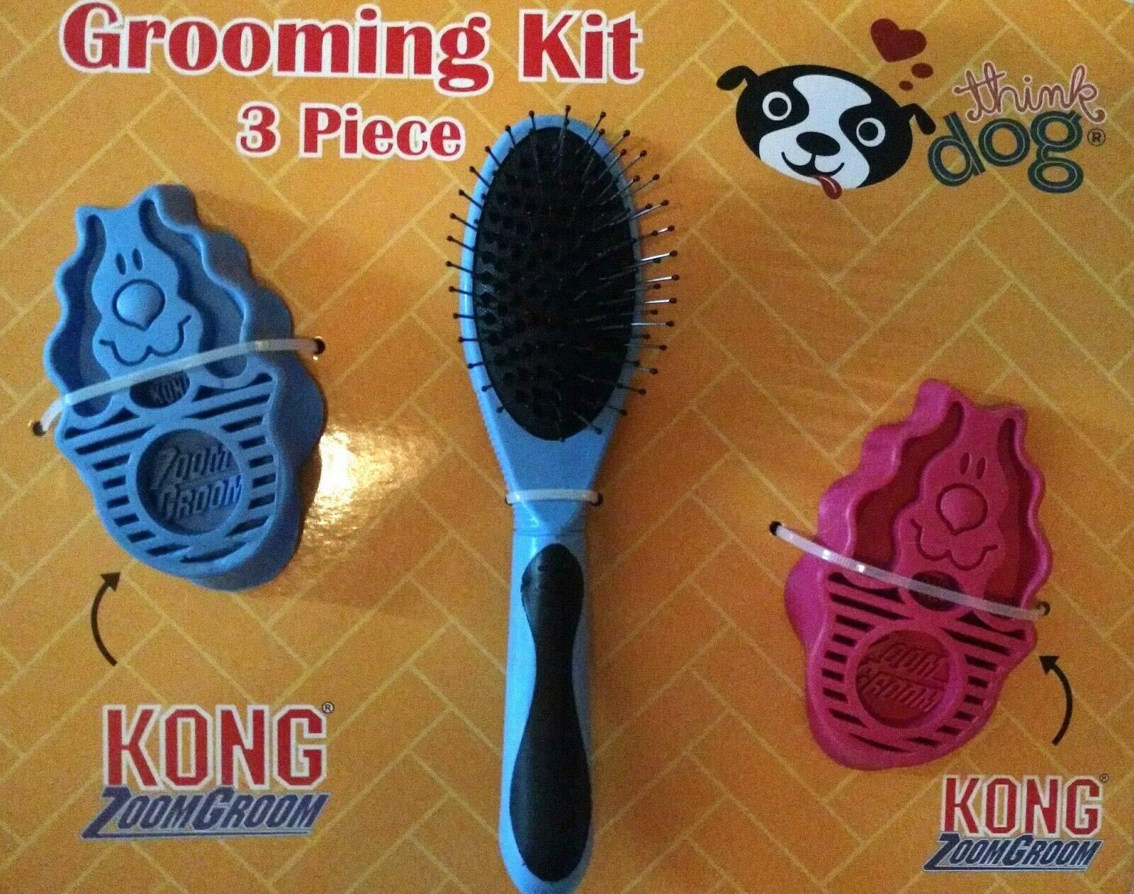 BestdealForever Pet Series Zoom Groom Grooming Kit 3 Piece - Purple/Pink/Brush ...