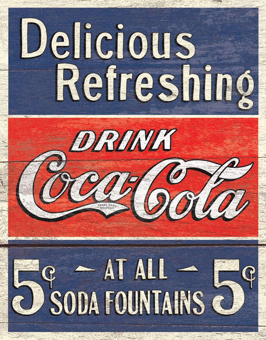 Coca Cola Coca Cola Delicious 5 Cents Cartel de Chapa ...