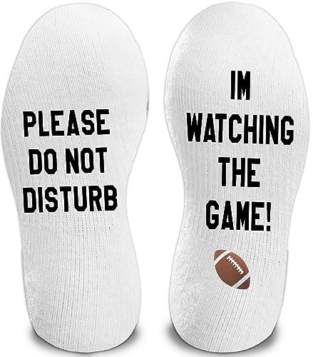 Word Socks - Funny Socks - Novelty Socks Do Not Disturb .. I/'m Watching GOT