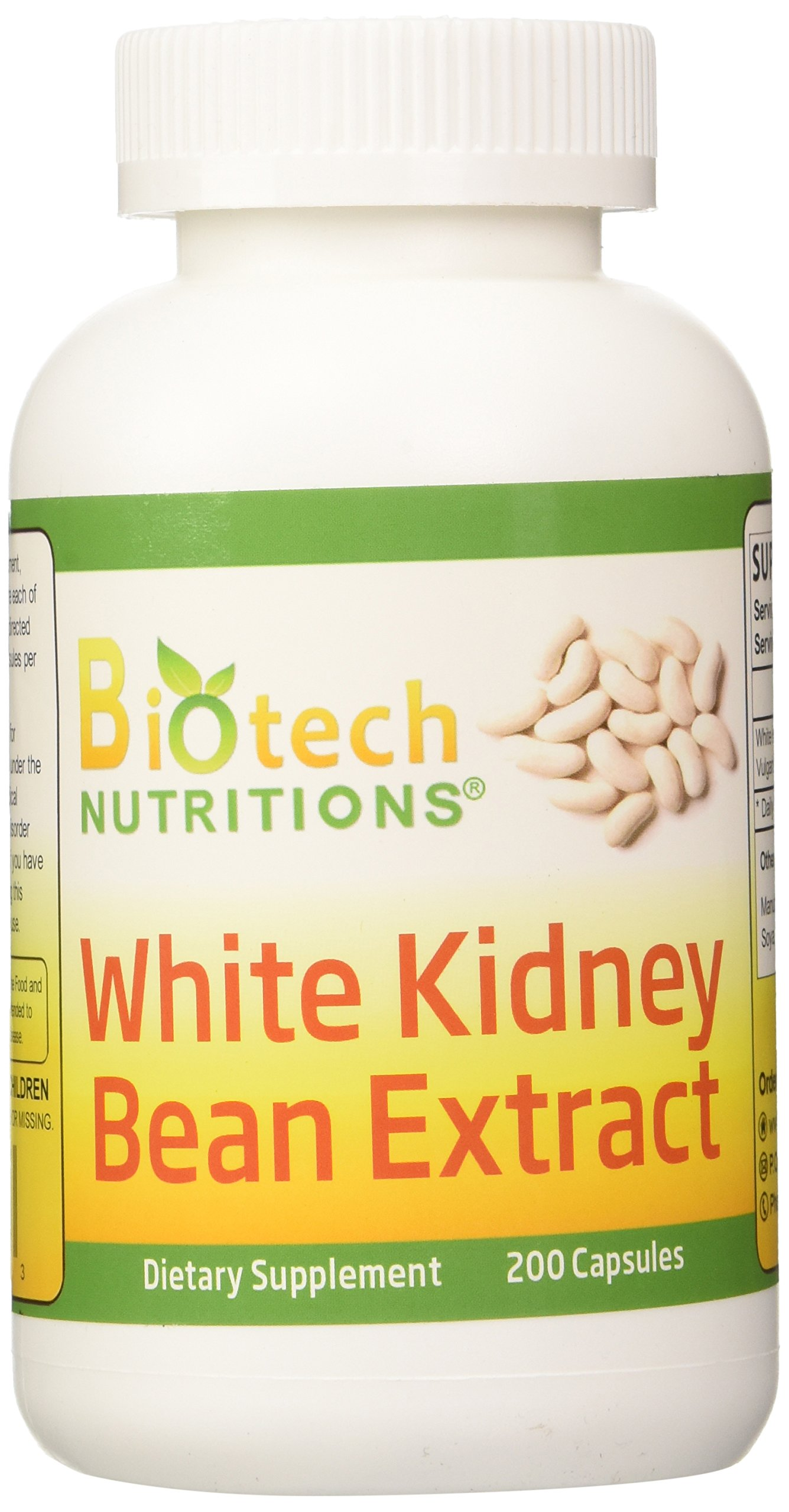 Biotech Nutritions White Kidney Bean Extract, 200 Count by Biotech Nutritions