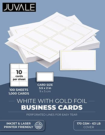 1,000 White Business Cards