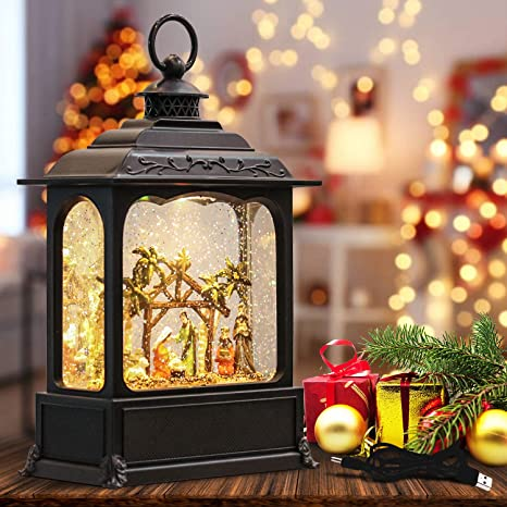 Sold Out!! New! Battery Operated LED Snow Globe Light Set With Timer!