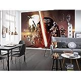 Collage papier peint vinyle Komar Star Wars EP7Le Réveil de la Force - Multicolore, 8pièces