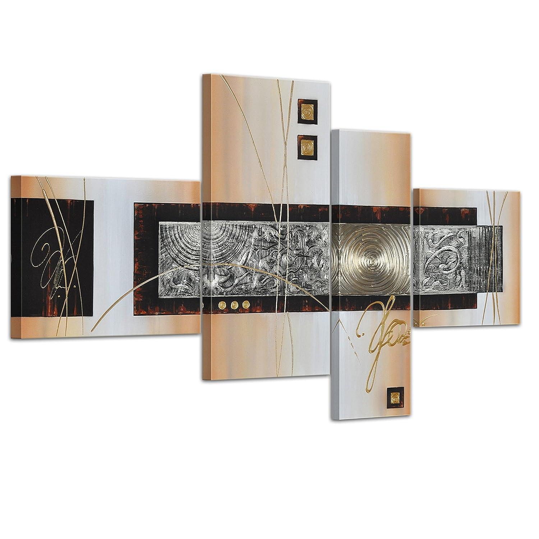 Bilderdepot24  45042a Abstrakte Kunst handgemaltes Leinwandbild, 120 x 70 cm, 4-teilig 3028