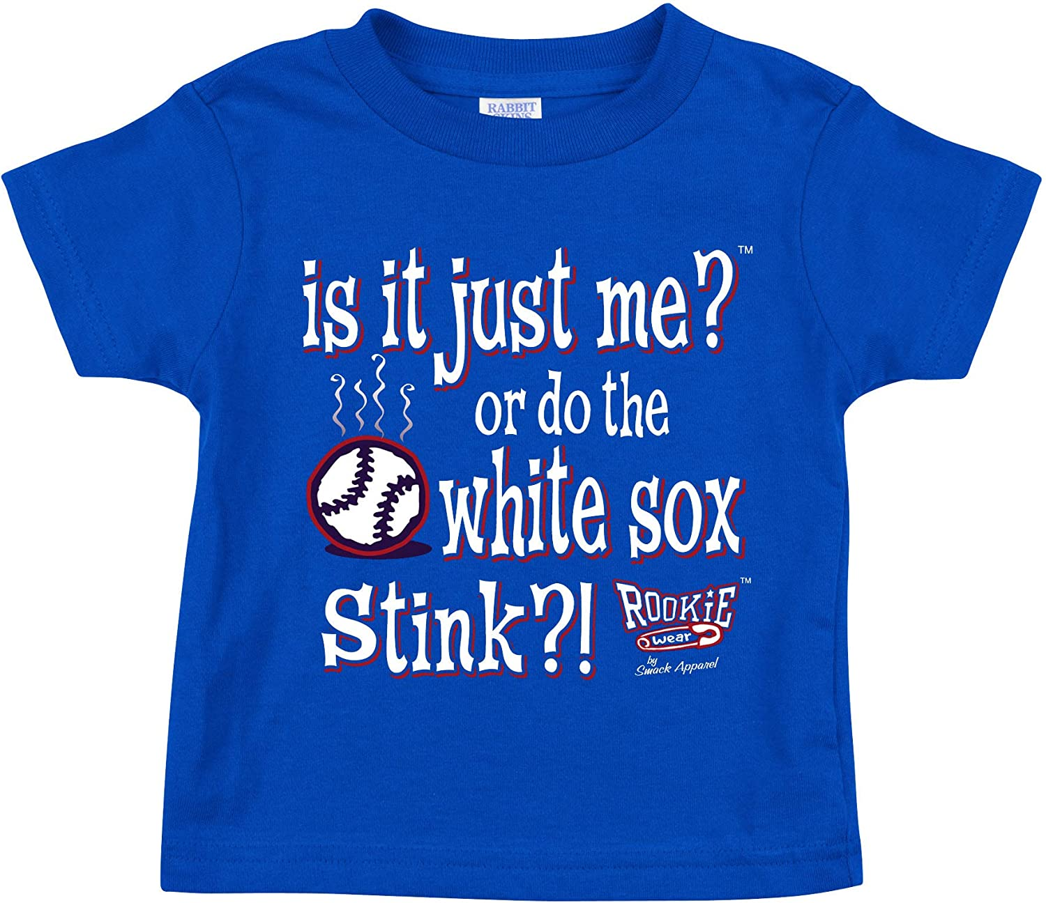 Rookie Wear By Smack Apparel Chicago Baseball Fans Blue Onesie or Toddler Tee NB-4T is It Just Me?
