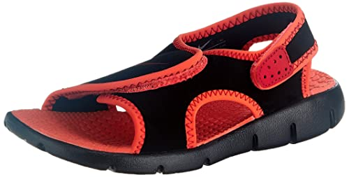 quality design 476bf 1bd7d Nike Boys Sunray Adjust 4 Black, Gym Red and Bright Crimson Sandals and  Floaters -
