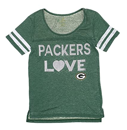Amazon.com   NFL Green Bay Packers Junior Women s Show Love T-Shirt ... 03728df033