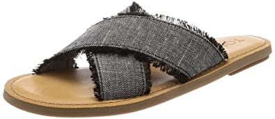 441489f0c39 TOMS Women s Viv Black Textured Chambray 5 B US. Roll over image to zoom in