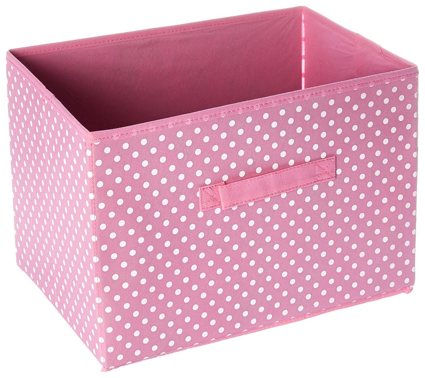FURINNO SD11144PK Laci Dot Design Non-Woven Fabric Soft Storage Organizer, Small, Pink