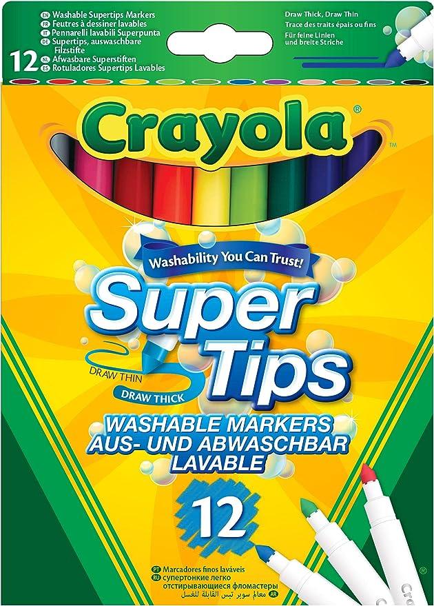 Crayola,Crayola,Crayola SuperTips Washable Felt Tip Colouring Pens, Pack of 12, Bright,Crayola,101584084,Arts_and_Crafts,Crayola,Crayola Ages 3 - 7,Pens,Washable