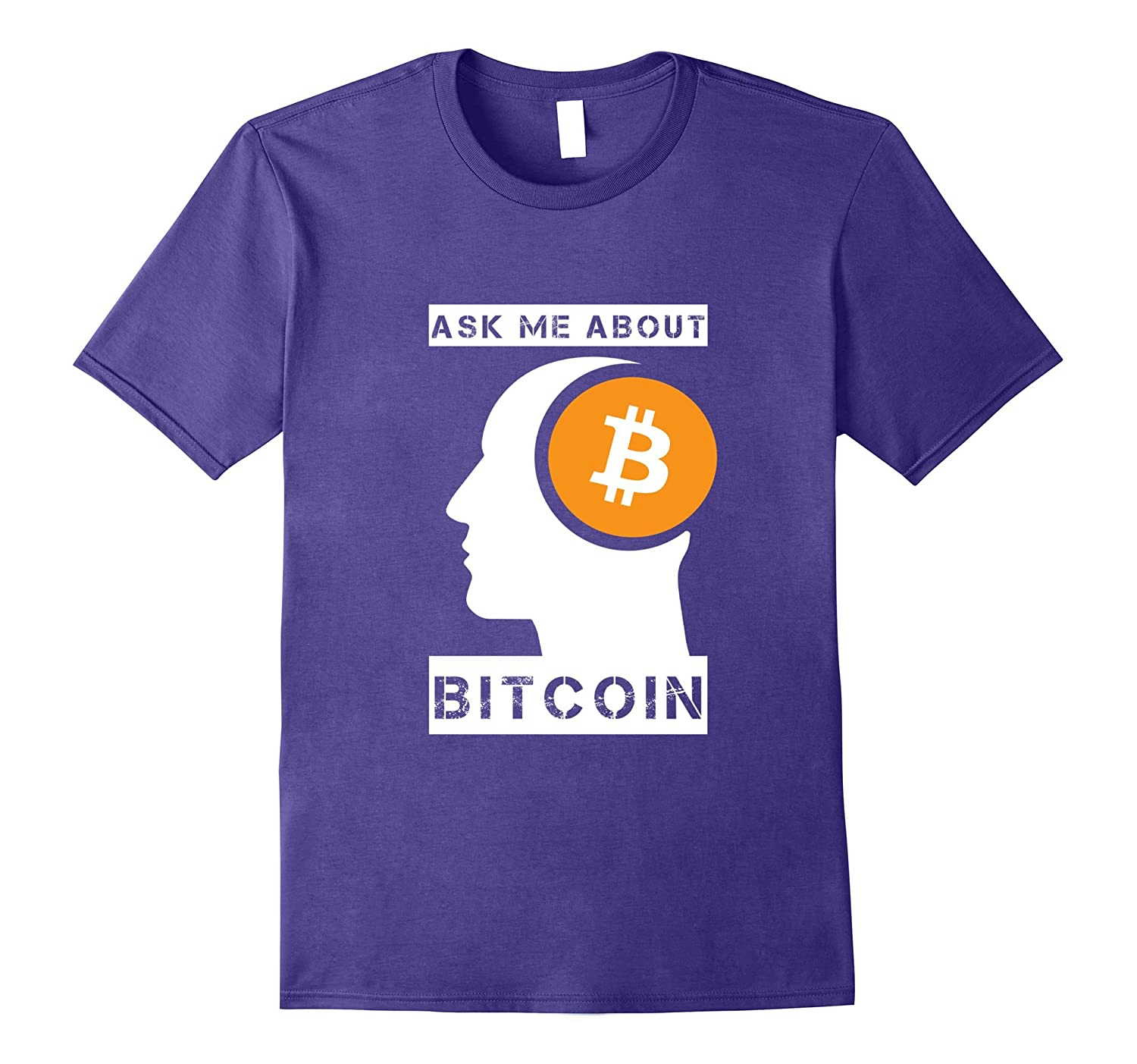 Ask Me About Bitcoin - Cryptocurrency Holder T-shirt-TJ