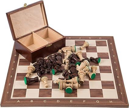 Square - Profesional Ajedrez de Madera Nº 6 - Italia - Tablero de ajedrez + Figuras - Staunton 6: Amazon.es: Juguetes y juegos