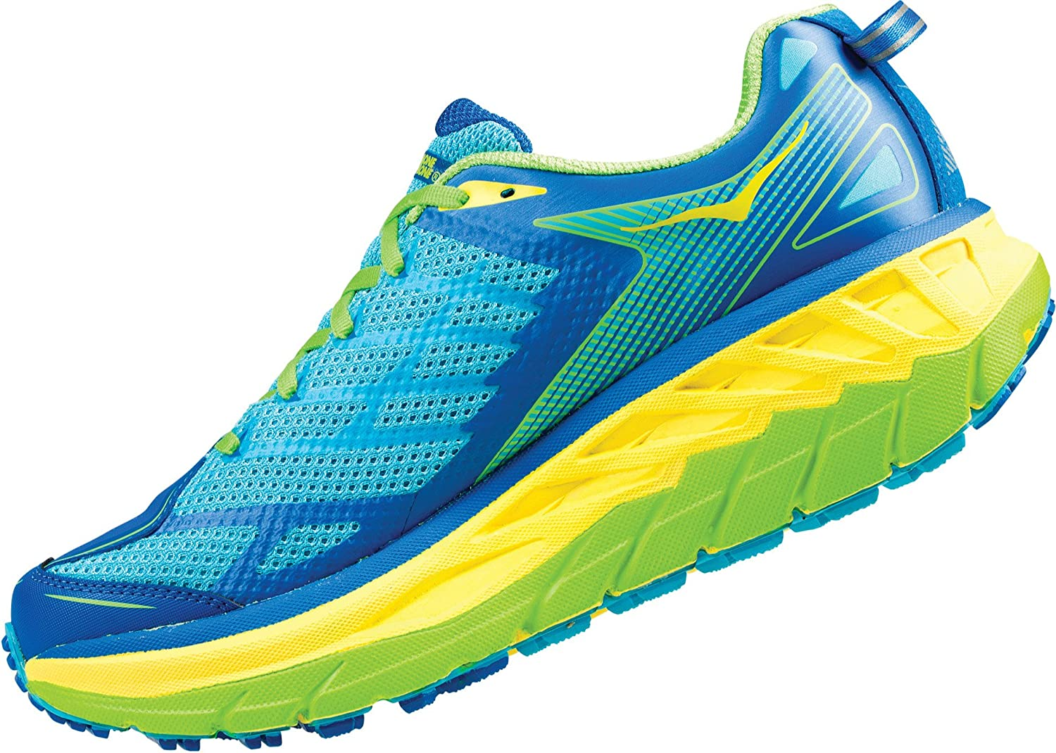 Hoka One One Stinson ATR 4 Running Shoes Men Blue Atoll/Blazing ...