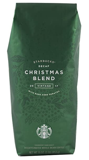 starbucks christmas blend decaf 16 oz 1 lb whole bean