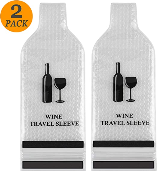 Wine Bottle Protector Wine Sleeves Pack In Travel Luggage And Suitcase 4 Packs