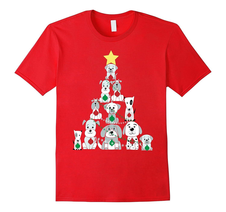 Christmas Dog T-Shirt, Funny Cute Xmas Tree Shirt-FL