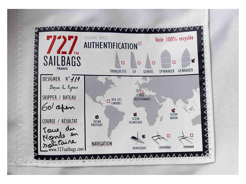 Tech 60 cm Blue Navy//Grey 45 Litres 727sailbags 2018 Sports Bag