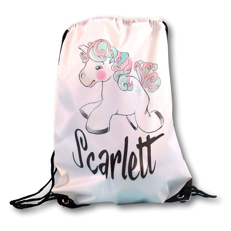 Personalised Unicorn Drawstring bag Back to School Unicorn Gift Unicorn Lover Unicorn Design