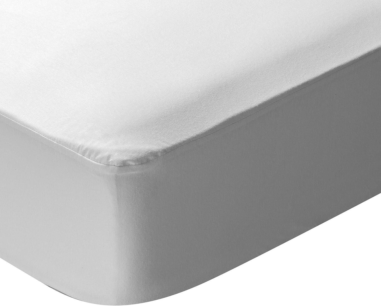 Pikolin Home - Protector de colchón punto, 100% algodón, impermeable y transpirable, 70x140cm-Cuna (Todas las medidas)