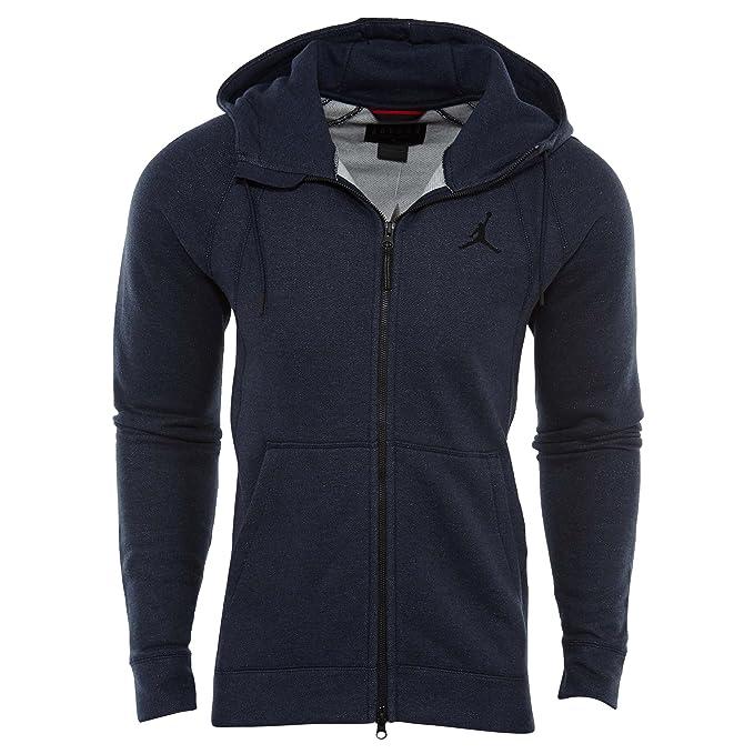 4bd2a58c96af Amazon.com  Jordan Sportswear Wings Fleece Full-Zip Hoodie Mens Style    860196-451 Size   L  Clothing