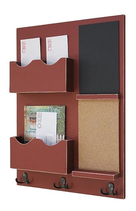 Genial Legacy Studio Decor Mail Organizer Cork Board Chalkboard Coat Hooks Key  Hooks Double Mail Slots (