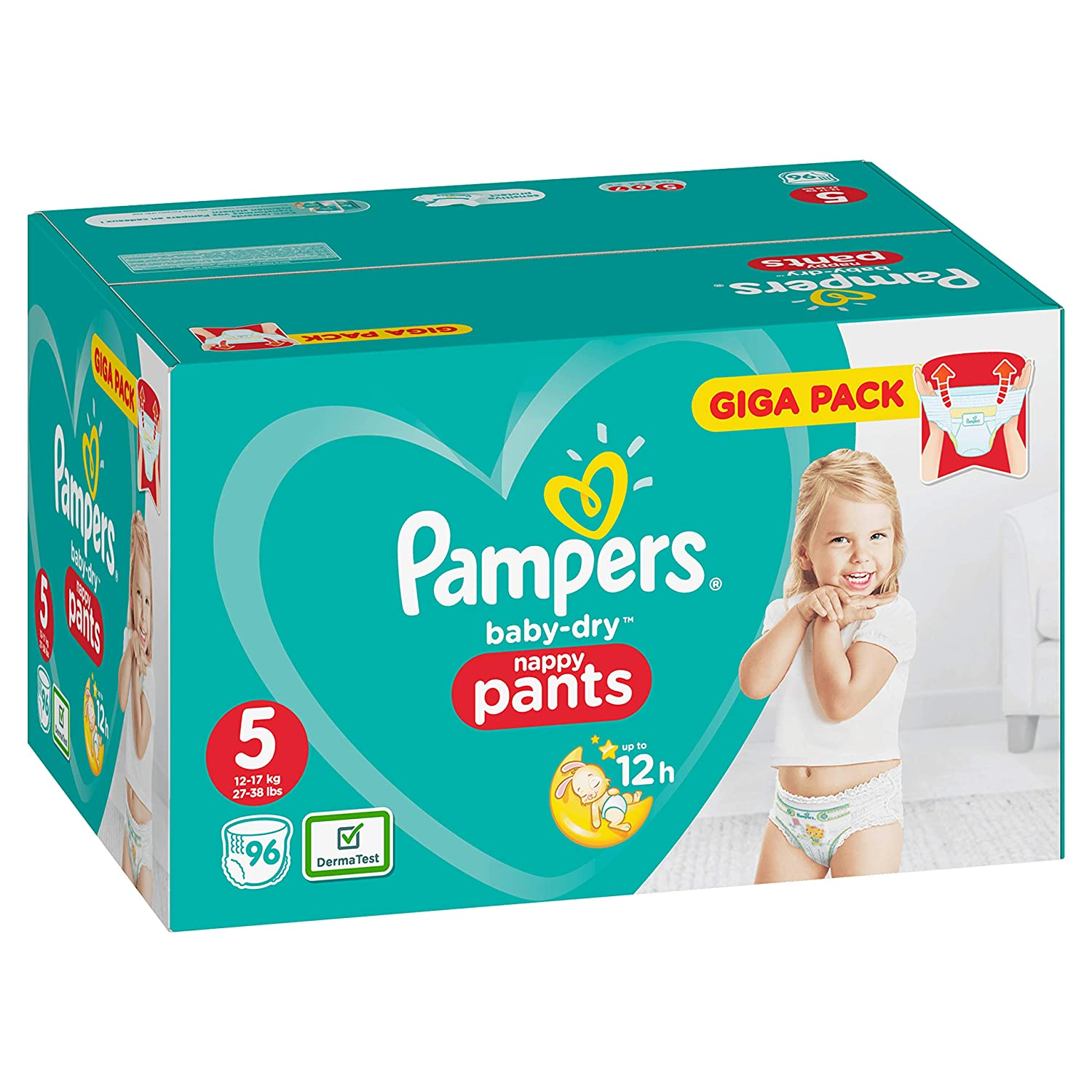 Pampers Baby-Dry Pants Taille 5 Couches avec canaux da/ération