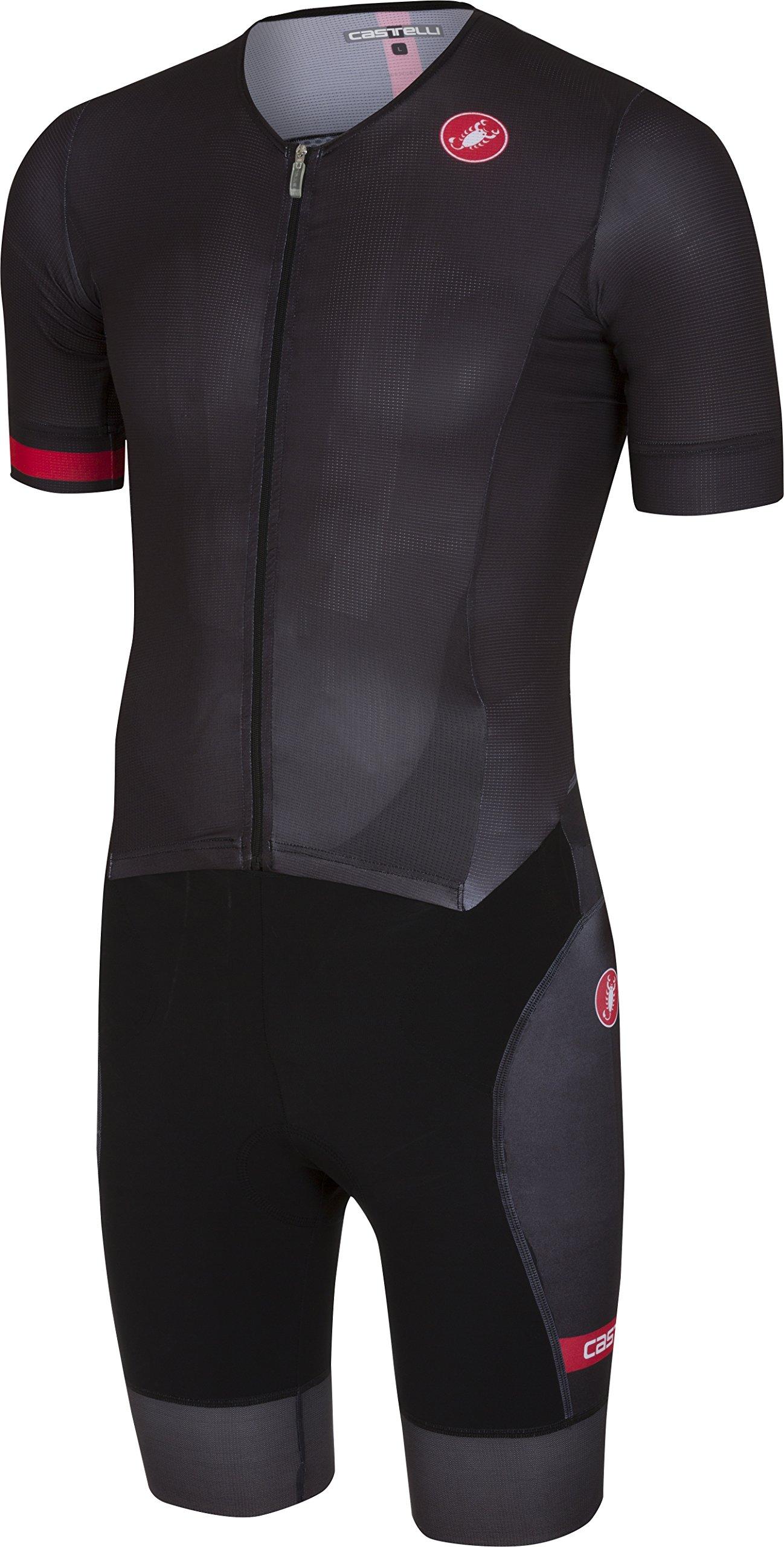 Castelli Free Sanremo Short-Sleeve Suit - Men's Black, XL