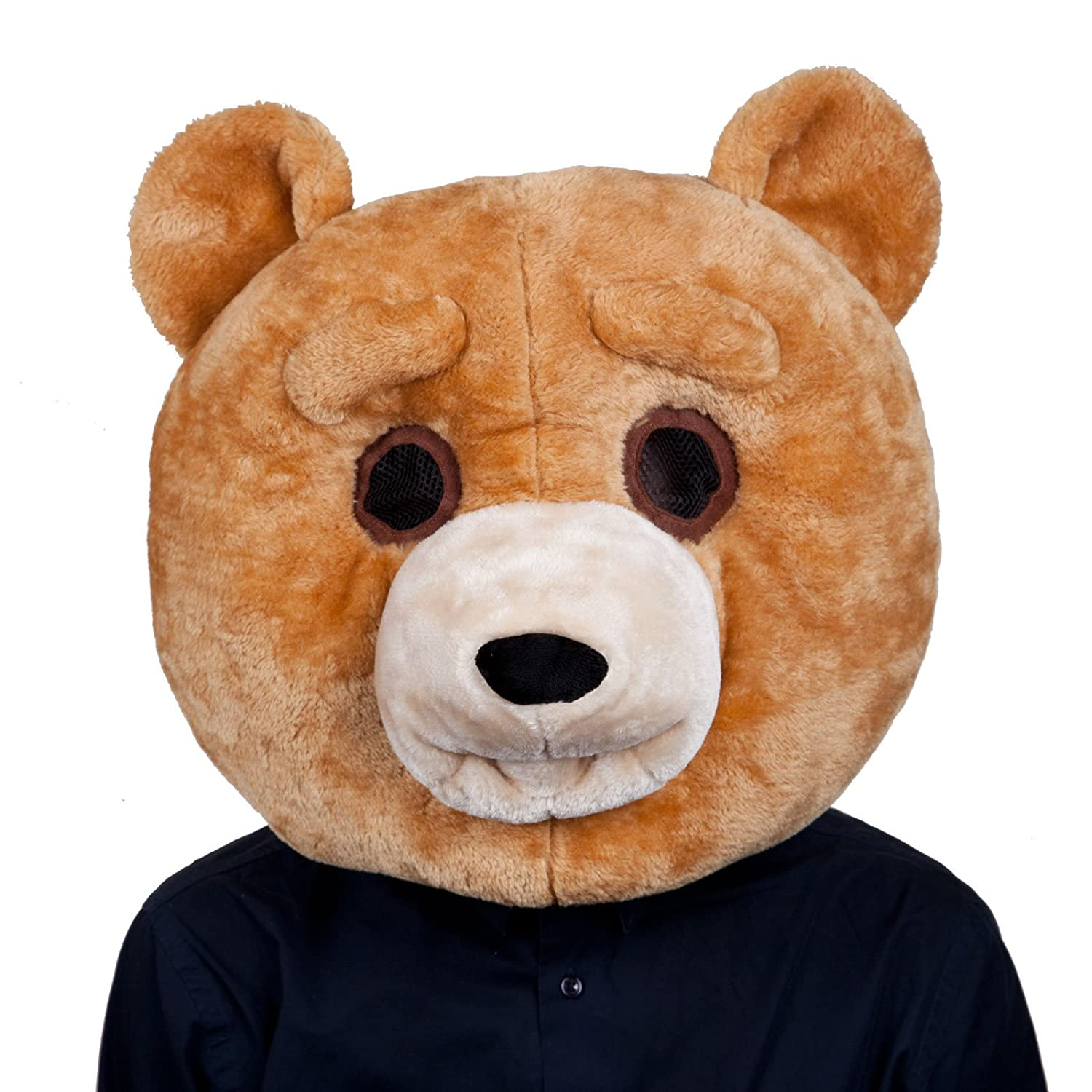 Adults Plush Teddy Bear Head Mask Halloween Fancy Dress Party Costume Accessory  sc 1 st  Amazon UK & Giant Deluxe Teddy Bear Mascot - Adult Costume Adult - One Size ...