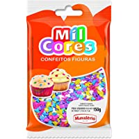 Mavalerio Mil Cores, Gluten Free, Star Shaped Sprinkles, Bakery Cake and Cupcake Decorating 150GR