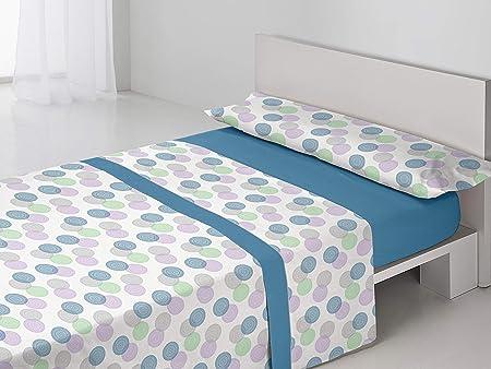 Antonella Juego sábanas térmicas Carmen. Cama 135 cm. Azul