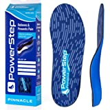 Powerstep Pinnacle Arch Support Insoles, Plantar Fasciitis Relief Shoe Inserts, Orthotic Insoles Men and Women